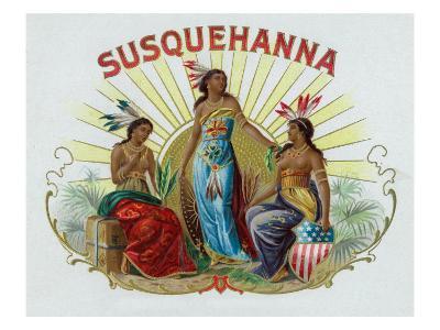 Susquehanna Brand Cigar Box Label