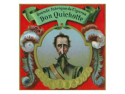Don Quichotte Brand Cigar Box Label