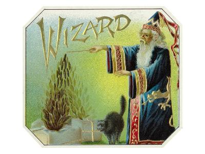 Wizard Brand Cigar Box Label