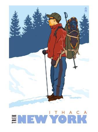 Snow Hiker, Ithaca, New York