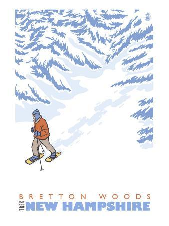 Stylized Snowshoer, Bretton Woods, New Hampshire