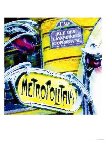 Antique Metro Sign, Paris