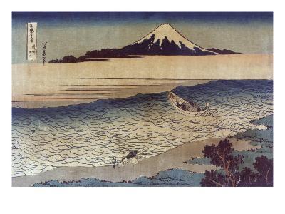 Tama River in Bushu, Japanese Wood-Cut Print