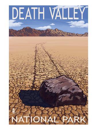 Death Valley National Park, California, Moving Rocks