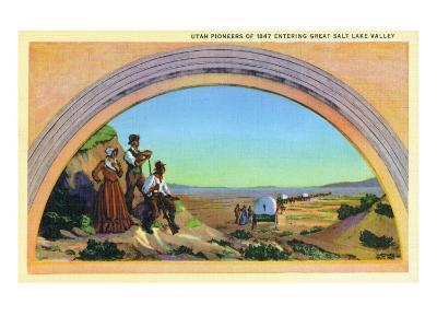 Utah, Representation of Utah Pioneers of 1847 Entering Great Salt Lake Valley
