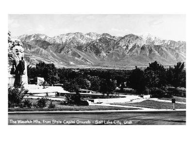 Salt Lake City, Utah, View of the Wasatch Mountains from the Capitol Grounds