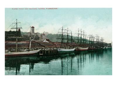 Tacoma, Washington, View of Ships at the Waterfront