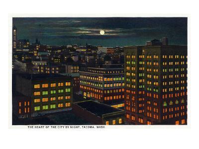 Tacoma, Washington, Heart of the City View at Night