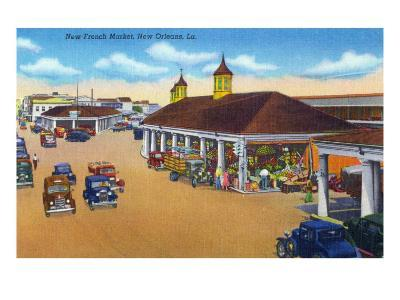 New Orleans, Louisiana, View of the New French Market