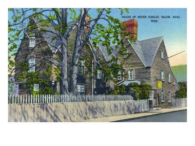 Salem, Massachusetts, Exterior View of the House of Seven Gables