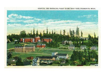 Bremerton, Washington, General View of the Hospital and Barracks