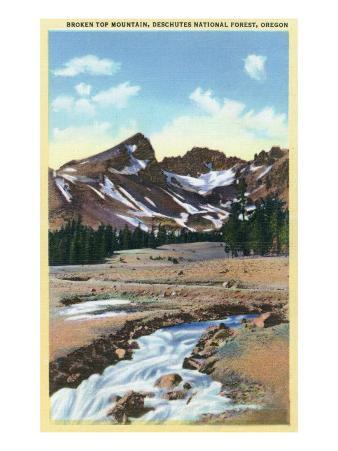 Crater Lake National Park, Oregon, Broken Top Mountain, Deschutes National Forest View
