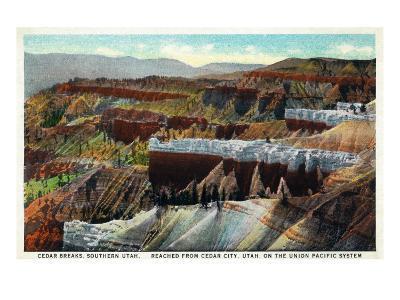 Utah, Cedar Breaks National Monument Aerial View