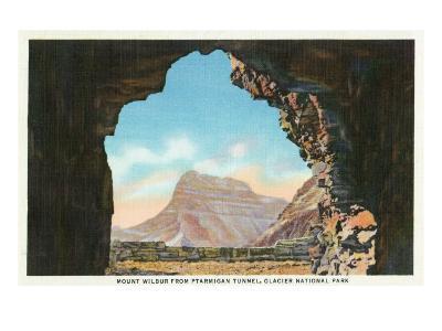 Glacier National Park, Montana, Ptarmigan Tunnel View of Mount Wilbur