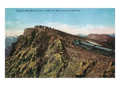 Mount McClellan, Colorado, View of the Argentine Central Railroad Train at Summit