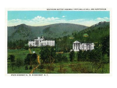 Ridgecrest, NC, Southern Baptist Assembly Pritchelle Hall and Auditorium View