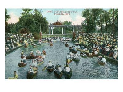 Detroit, Michigan, Belle Isle Park View of a Band Concert