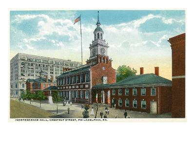 Philadelphia, Pennsylvania, Exterior View of Independence Hall, Chestnut Street