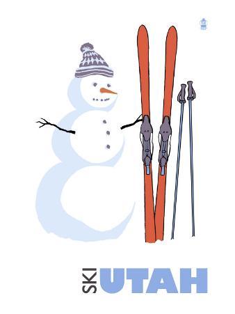 Utah, Snowman with Skis