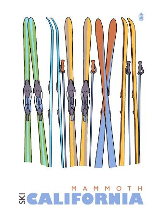 Mammoth, California, Skis in the Snow