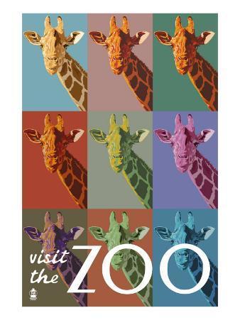 Visit the Zoo, Giraffe as Pop Art