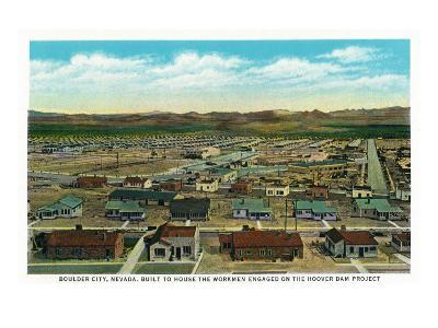 Boulder City, Nevada, Panoramic View of the Town for the Hoover Dam Workers