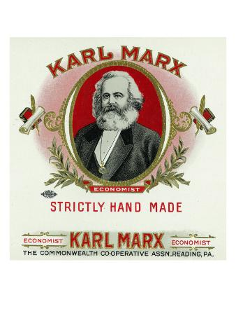 Karl Marx Brand Cigar Box Label, Karl Marx