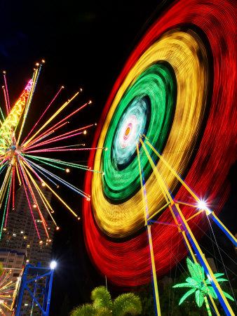 Amusement Park at Night, Surfers Paradise, Gold Coast, Queensland, Australia