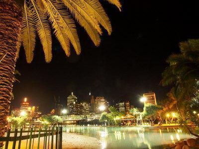 South Bank Parklands at Night, Brisbane, Queensland, Australia