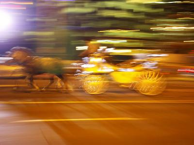 Horse and Wagon at Night, Melbourne, Victoria, Australia
