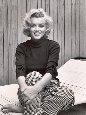 Portrait of Marilyn Monroe at Home
