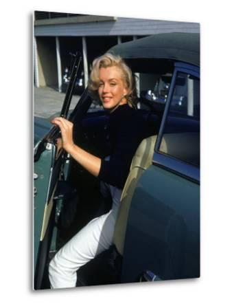Marilyn Monroe Getting Out of a Car