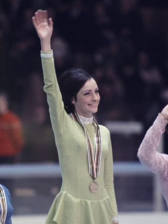 US Figure Skater Peggy Fleming after Winning Gold Medal, Winter Olympic Games in Grenoble, France