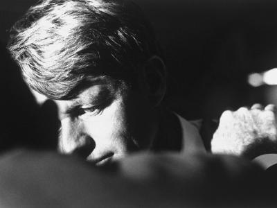 Author Teddy White Consoling Sen. Robert Kennedy after Losing the Oregon Primary