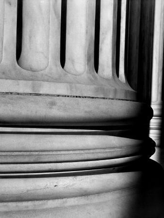 Close-Up of Marble Base of Enormous Column in the Supreme Court Building