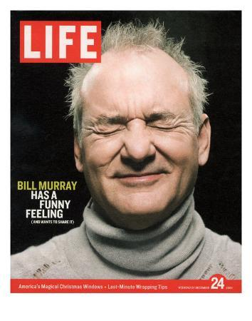 Actor Bill Murray with Eyes Closed, December 24, 2004