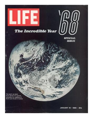 1968 Special Issue, NASA Shot of Earth from Space, Apollo 8 Mission, January 10, 1969