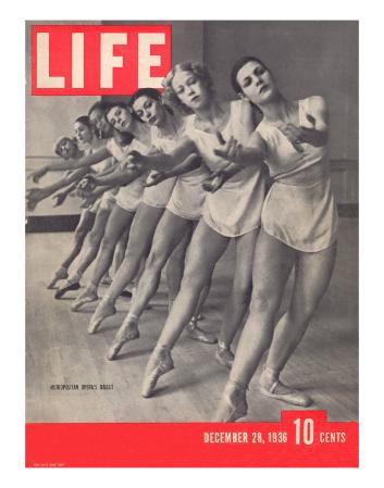 Members of the Metropolitan Opera's Ballet Company Practicing, December 28, 1936