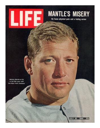 NY Yankee Slugger Mickey Mantle, July 30, 1965