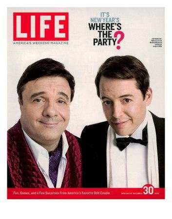 Actors Nathan Lane and Matthew Broderick Getting the Last Laugh of 2005, December 30, 2005