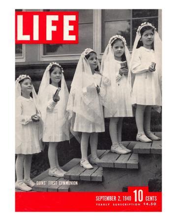 Dionne Quintuplets First Communion, September 2, 1940