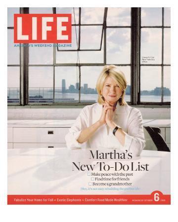Martha Stewart in her Office at Martha Stewart Living Omnimedia, Inc., October 6, 2006