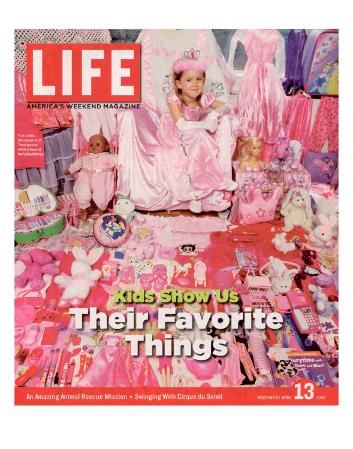 Six-Year-Old Tess Posing with Some of her Playthings for The Pink and Blue Project, April 13, 2007