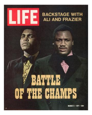 Boxers Muhammad Ali and Joe Frazier, March 5, 1971