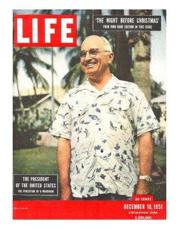 President Harry Truman in Casual Shirt, December 10, 1951