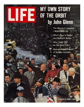 John Glenn, with Wife and VP Johnson During Ticker Tape Parade, March 9, 1962