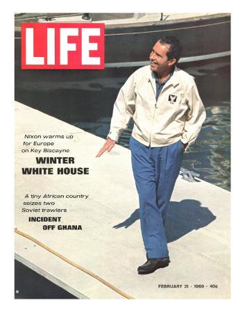 President Richard Nixon in Key Biscayne, February 21, 1969