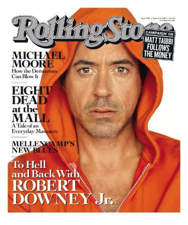 To Hell and Back With Robert Downey Jr, Rolling Stone no. 1059, August 2008