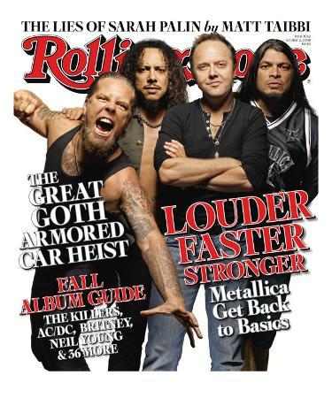 Metallica Gets Back to Basics, Rolling Stone no. 1062, October 2008