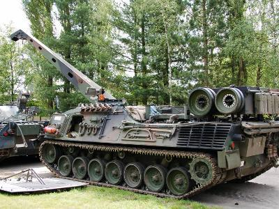 Leopard 1A5 Mbt of the Belgian Army in Repair